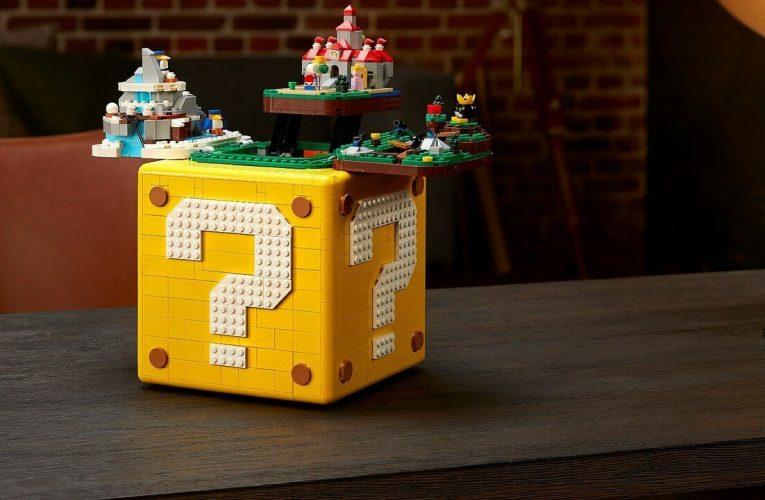 There's A Hidden Secret Inside The LEGO Super Mario Question Block Set