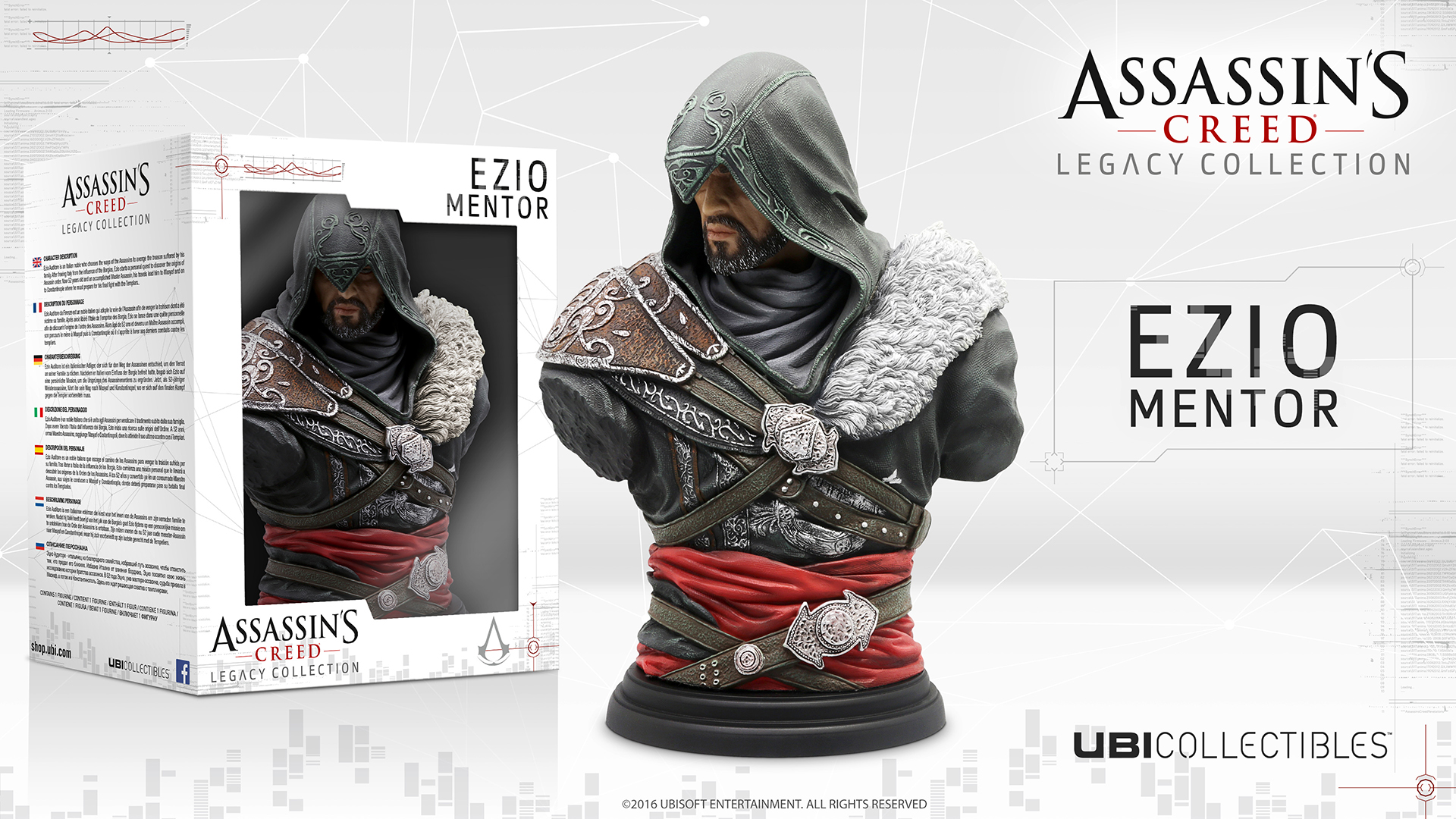 New Assassins Creed Busts Unveiled Leap Of Faith Statuette Now Available